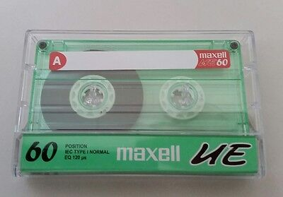 Maxell Cassette 60 Minute UE IEC Type I Normal Audio Tape Green 1 Pack Blank