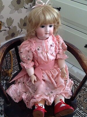 21 in Antique Doll Victorian Sjmon & Halbig? beautiful clothes