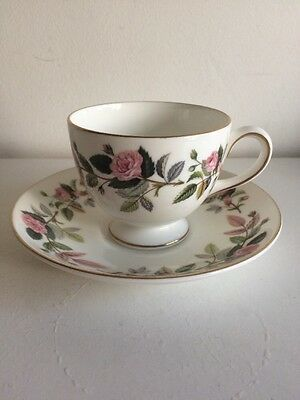Wedgwood Hathaway Rose Cup And Saucer Vgc