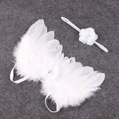 Baby Angel Wings and Flower Headband - ideal as photography prop - in Australia