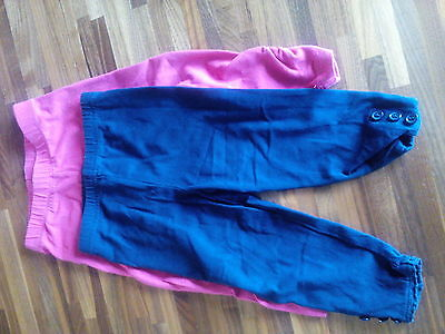 Girls leggings pink and navy 12-18 months
