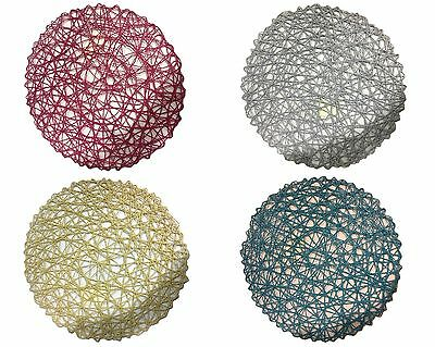 4x Round Paper Dinner Table Mat Placemats Wedding Home Decor Place Mat