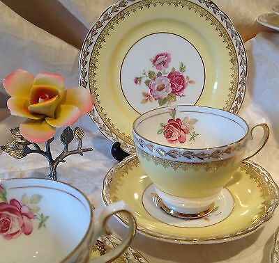 100 vintage China trios. Cups, saucers and tea plates. Wedding, candles