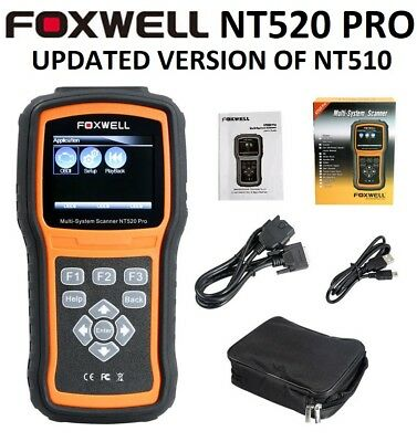 Foxwell Nt520 Pro Dodge Jeep Chrysler Diagnostic Scanner Tool Code Reader Nt510