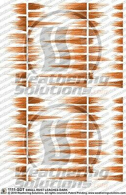 Weathering Decals Small Rust Leaches Light 1111-MLT