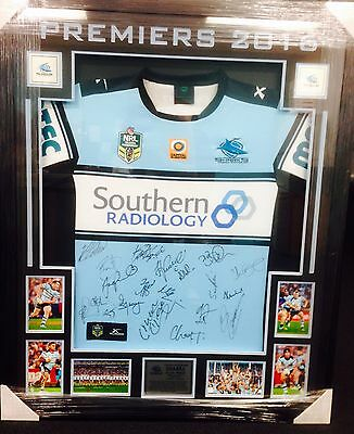 SIGNED Cronulla Sharks 2016 NRL Premiers Jersey - ALL proceeds to Charity