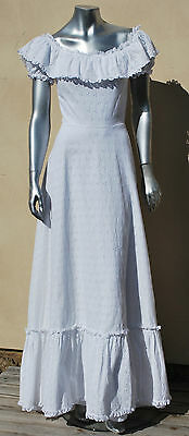 1970s Broderie Anglaise French Wedding Dress