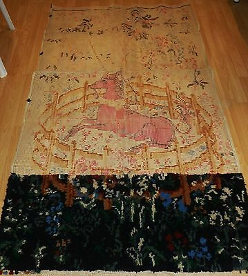 readicut rug making kit unicorn design 74 x 44 inches approx has been started
