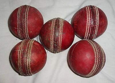 Cricket Balls 5 x League Cricket Balls Grade A For Match Or Nets Practice Used