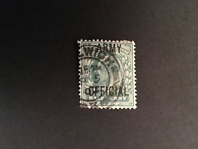 Edward VII 1902-10. Army Official 1/2d SG 048 used.