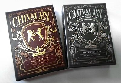 Chivalry Limited Edition Custom Playing Cards Gold & Silver 2 Deck Poker Set