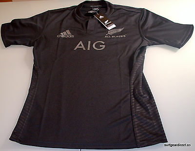 All Blacks Home Jersey NZ Rugby Large Mens Genuine Last one