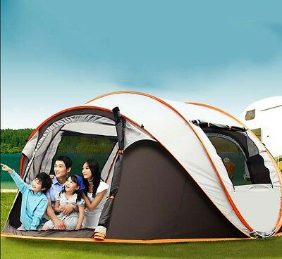 5-8 Persons POP UP 1'S Family Outdoor Waterproof Beach Camping Hiking Tent #