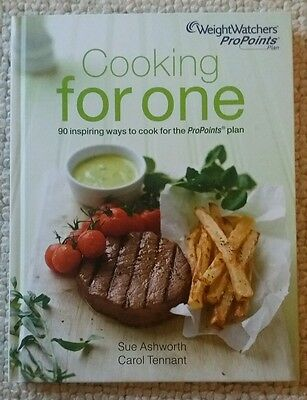 Weight Watchers smart Cooking for One recipe cookbook for pro points 90 single
