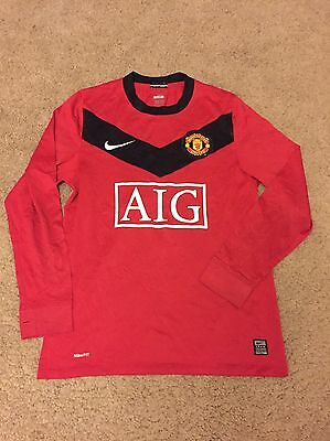 Manchester United Home Shirt 2009/10 Adults Small (S) Long Sleeve Jersey Nike