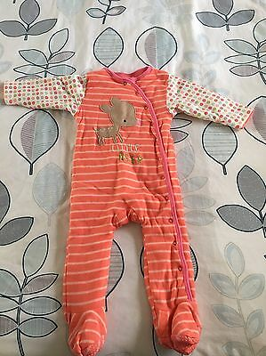 Girls Mothercare Quilted Sleepsuit Excellent Condition 12-18 Months