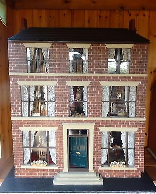 """Large Antique Dolls House  c.1890 """"The Manor House"""""""