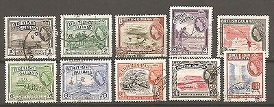British Guiana: A Selection of Ten Used QE11 Stamps