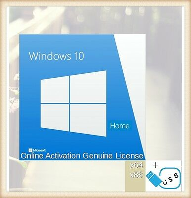 Retail Windows 10 Professional Full Installer English 32/64 Product Key USB 3.0