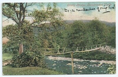 Vintage Postcard.  Shaky Bridge, Llandrindod Wells.  Used 1906.   Ref:69164