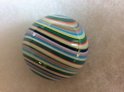 CASCADE a rainbow of colours HANDMADE MARBLE 38mm TEIGN VALLEY  + box & stand