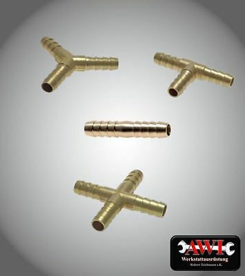 Hose Connector Brass 5mm - 25mm Connector Tube div. Models