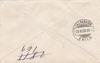 Santiago Chile 1886 - 87. Two Covers .ref 377