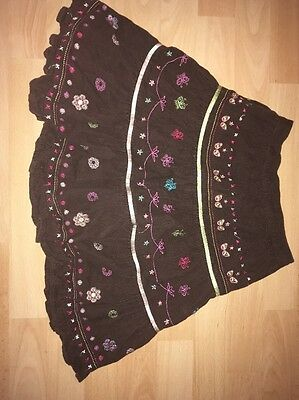 Butterfly by Matthew Williamson Floral Girls Skirt (lined) Age 7