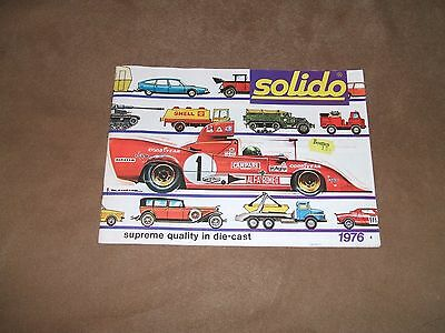 Solido 1976 model catalogue