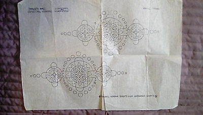Vintage 1930s embroidery stencil