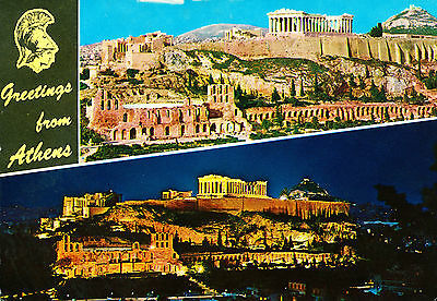 Postcard Greetings from Athens, Greece