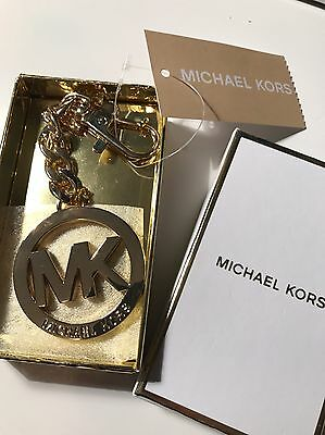 Michael Kors MK key charm for bag, New, boxed, authentic, gold.