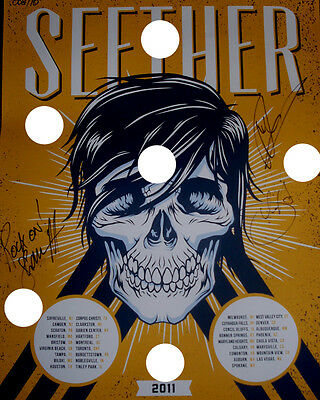 Seether Signed Rare Concert Poster Lithograph Reprint Photo