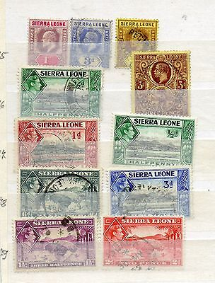 Stamps from  Sierra Leone, FU.