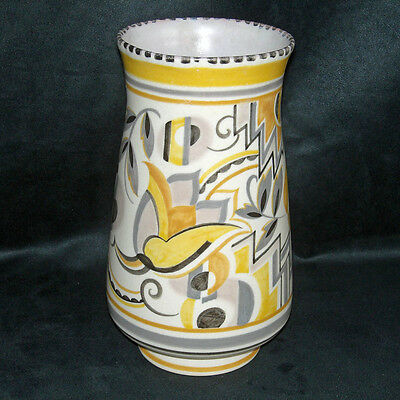 Poole Pottery 1930's Traditional Vase YE Pattern Ruth Pavely