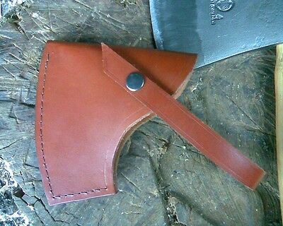 HAND MADE BROWN LEATHER AXE SHEATH FOR HULTAFORS  AGDOR 1750g CHOPPING AXE#1