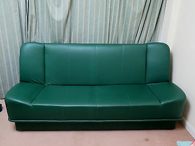 Faux leather bottle green dark emerald green sofa bed double sizes