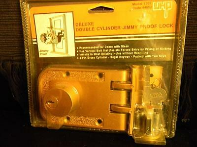 Butt-Ugly Package Sale! UHP Deluxe Double Cylinder Jimmy Proof Lock; #1207. L23