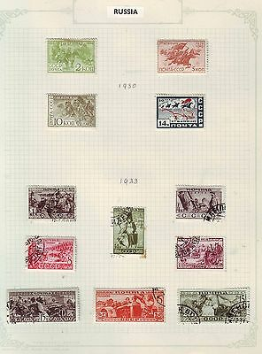 Russia 4 1930 red Cavalry set mint & Ethnographical Issue Used Values Page
