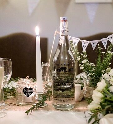8 No Silver Glass Candlestick Holders Wedding