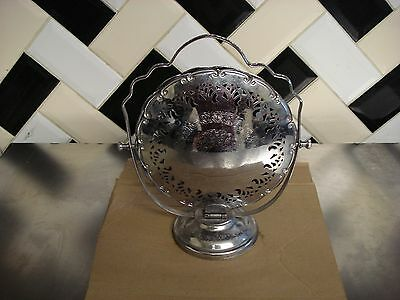 Vintage Fold Out 3 Tier  Chrome Cake Stand