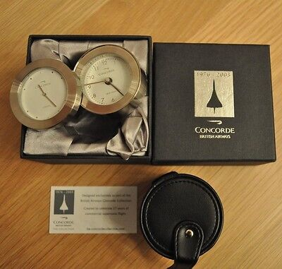 British Airways Concorde Duel Time Alarm Clock(NEW)
