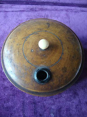 Fine antique treen  minture roulette wheel