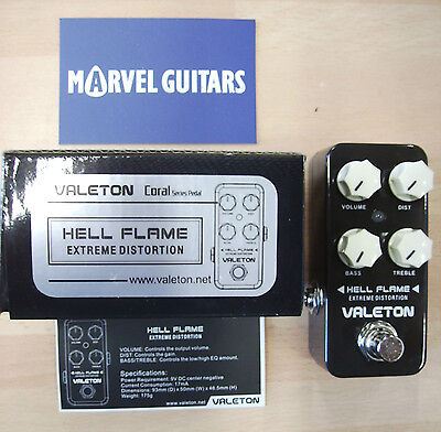 """Valeton Coral Series """"Hell Flame""""Extreme Distortion electric guitar effect pedal"""