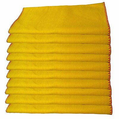 ADAM,s 100% Pure Professional Quality 26 X 30CM Yellow Cotton,Cleaning Dusters