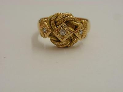 Antique 18Ct. Gold Diamond Knot/puzzle Ring  1914
