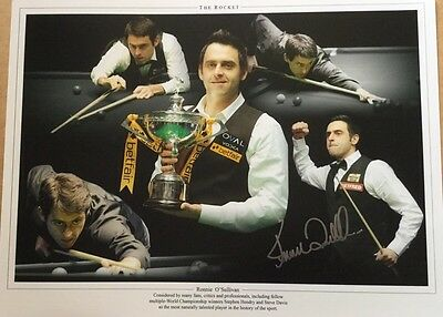 Signed 16 X12 Photo Montage Ronnie O' Sullivan Proof COA