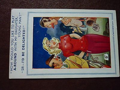 Bamforth comic post card brown triangle series no 636 - unposted