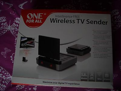 One For All SV1730 Interference Free Video & Audio Signal Wireless TV Sender New