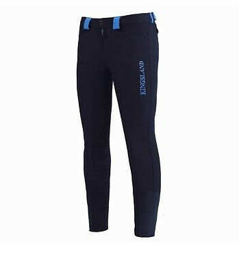 Kingsland Mens Breeches Navy With Blue Tabs
